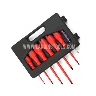 7 Piece  VDE 1000 V Electric Insulated Screwdriver Set   310109