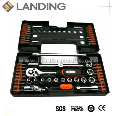 55pcs  Ratchet Screwdriver And Sockets Bits Set   701701