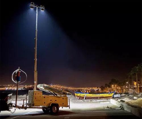 Землетрясение в Чили - мачта MPMC подарит свет, тепло и безопасность