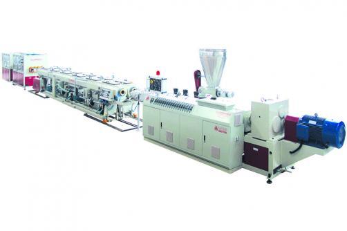 PVC双出管材挤出生产线