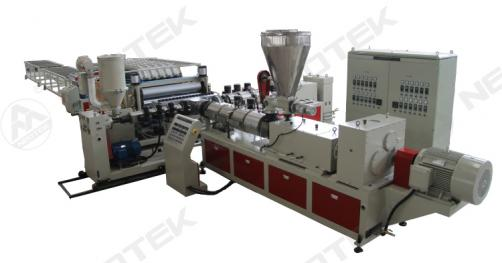 PVC+ASAPMMA roof tile extrusion line