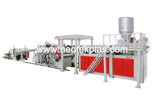 PP, HIPS, PE, EVA, EVAOH Single Layer, Multilayer Board Extrusion Line