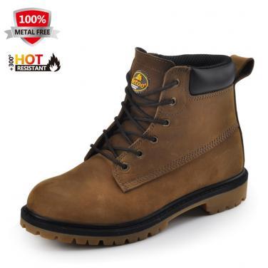 M-8400 HRO Коричн.прочные мужские рабочие обуви