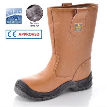 Brown Safety Boots for Winter H-9001 Brown