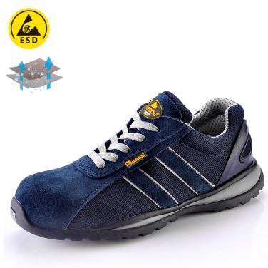 Lightweight safety shoe for summer blue L-7034B