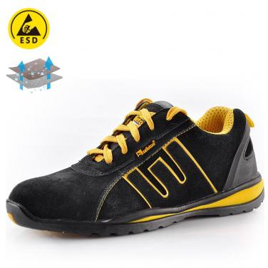 Lightweight safety shoe for summer yellow L-7034Y
