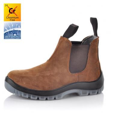 Nubuck lace-up safety shoe M-8316