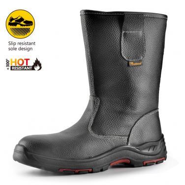 H-9001 Черные высокие новые защитные обуви