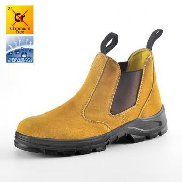 M-8025 Желтые защитные обуви без шнурков замша