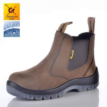 M-8025 Нубук защитные обуви без шнурков PU/TPU