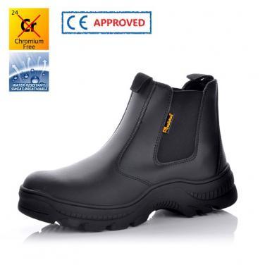 M-8025 Черные защитные обуви без шнурков резина-пропитка