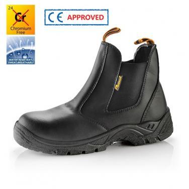 M-8025 Черные защитные обуви без шнурков ПУ