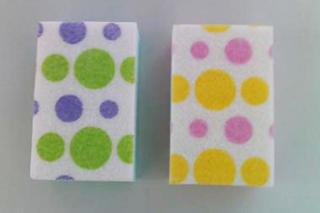 Printed Non-woven Fabric Sponge Brush