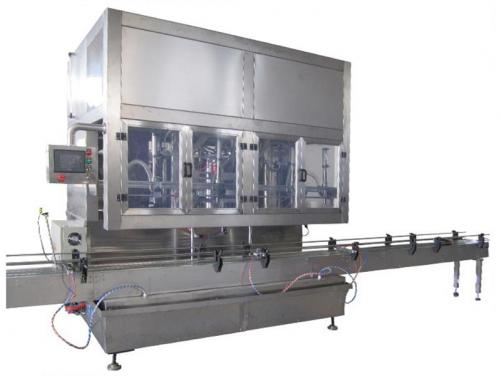 PLC controlled time gravity filling machine