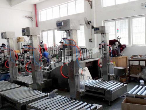 Single head liquid weighting and filling machine
