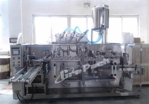 Automatic detergent liquid pouch packing line
