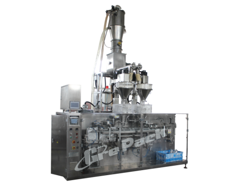 Automatic medicine powder pouch packing line