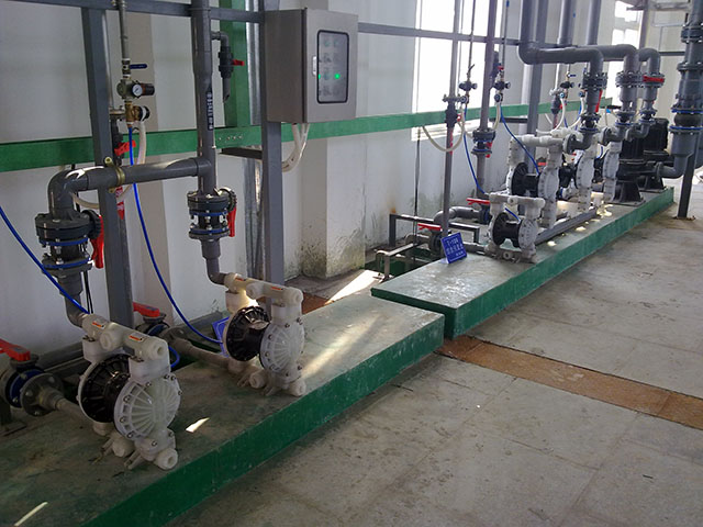 Diaphragm Pumps for Wastewater Treatment