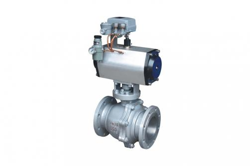 RV Q641F Flanged Pneumatic Ball Valve