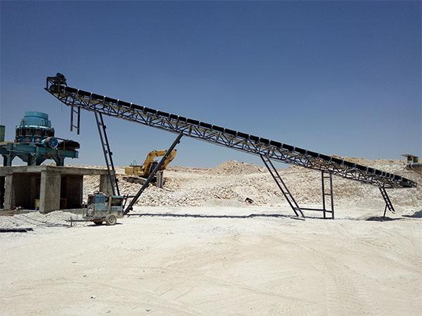 Установка для дробления заполнителя из известняка в Иордании