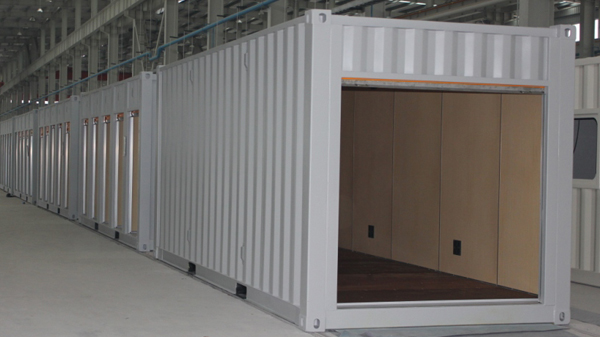 1 open storage container