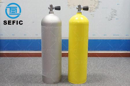 Aluminum oxygen diving bottle