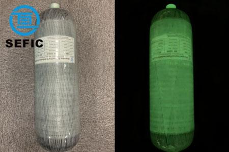 Respirator bottle glows in the dark SCBA for firefighting