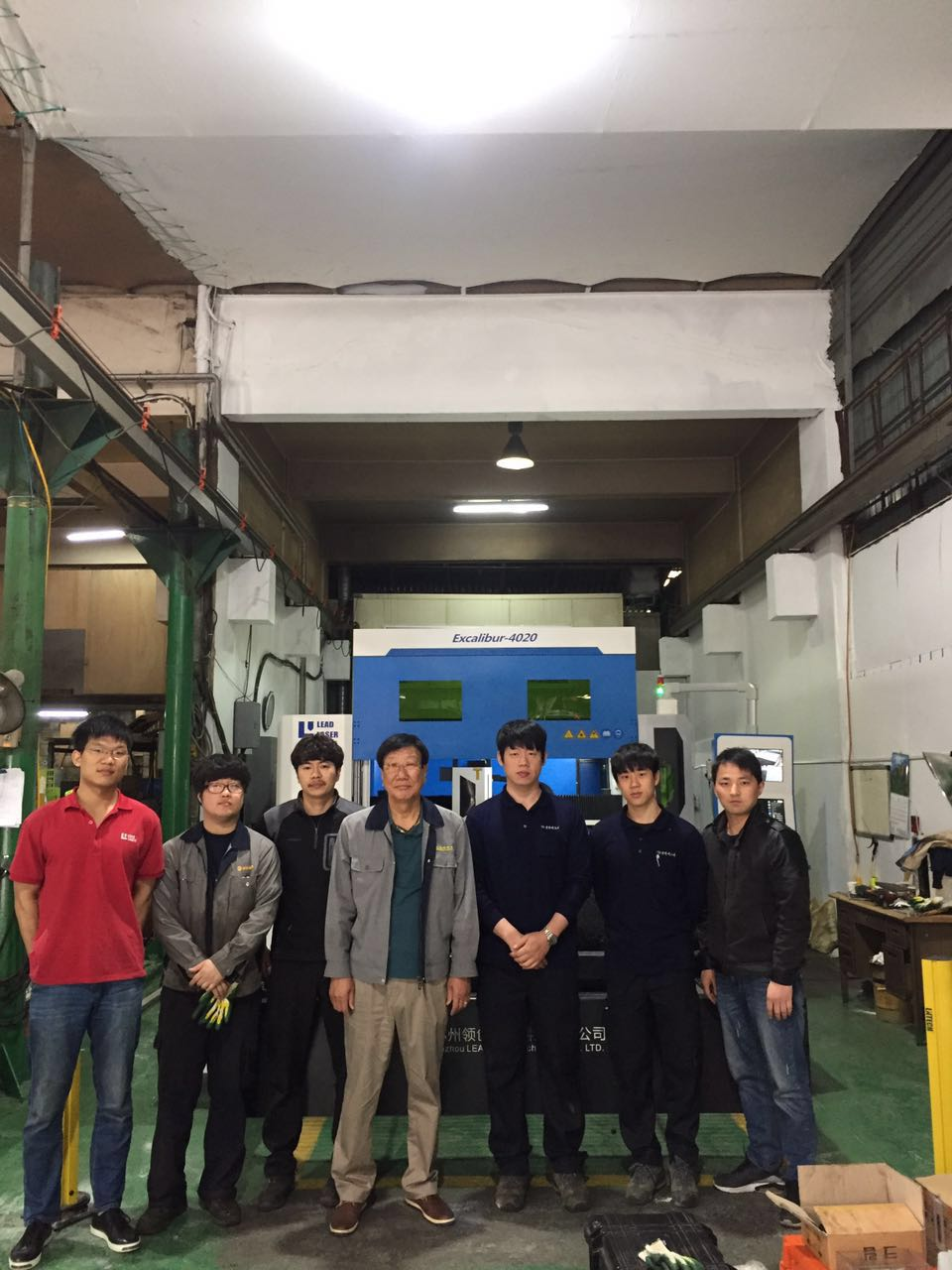 The acceptance of LEAD Laser Excalibur 4020 cutting machine by Korea Customer