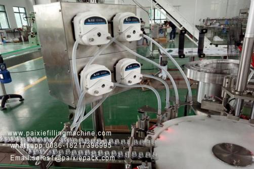 Automatic  plastic plug and lid bottle filling capping machine