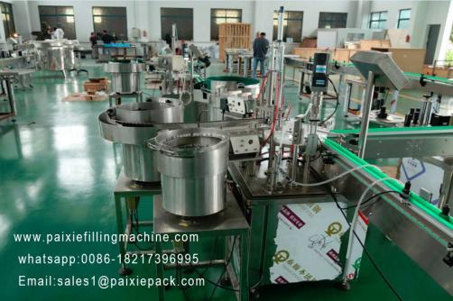 Glass dropper filling capping machine
