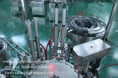 E-cigarette glass bottle and plastic bottle filling plant