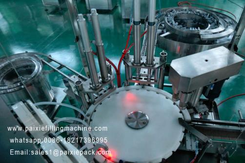 Glass dropper bottle essential oil filling capping machine