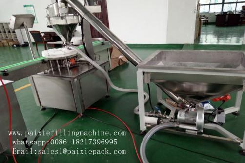 Tin can powder filling sealing machine