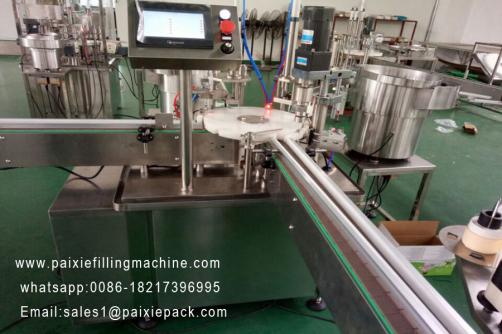 Round bottle vial filling capping machine