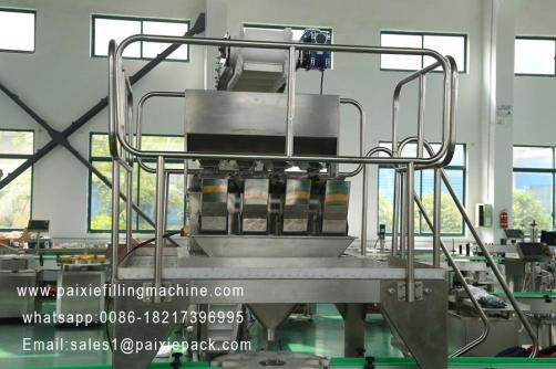 Electronic scale granule weighing filling machine