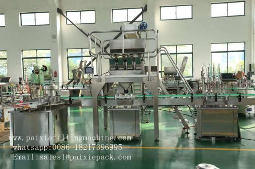 Liquid weighing bottle filling capping machine
