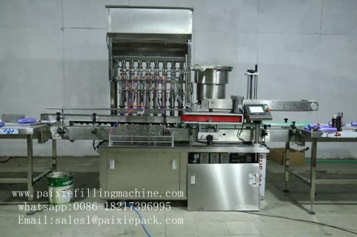 Detergent product filling capping machine