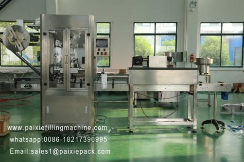 Round bottle PVC film sleeve labeling machine