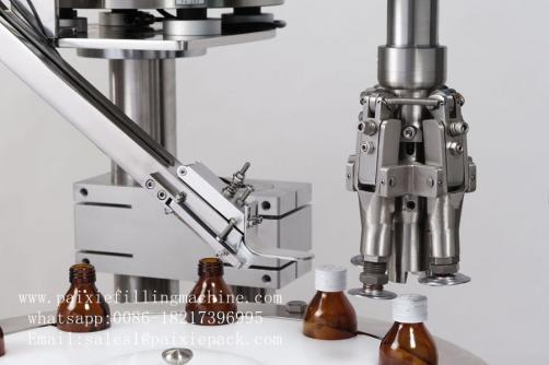 Round glass bottle cap sealing machine