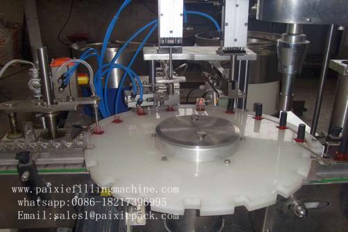 Glass square bottle nail polish filling machine