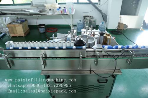 Tin can glue paper labeling machine