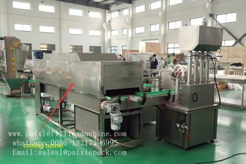 Cooling tunnel for vaseline production line