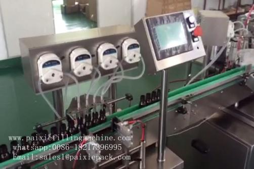 Small bottle peristaltic filling capping machine