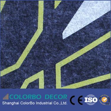 Polyester fiber embossed acoustic board