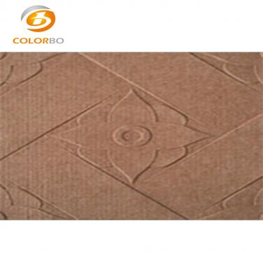 Polyester embossed acoustic panels