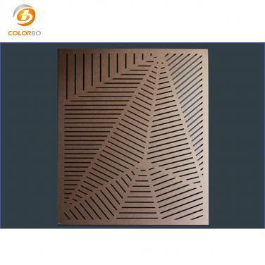 Polyester fiber carved panel