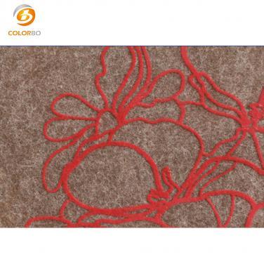 Printing hollow polyester fiber panel