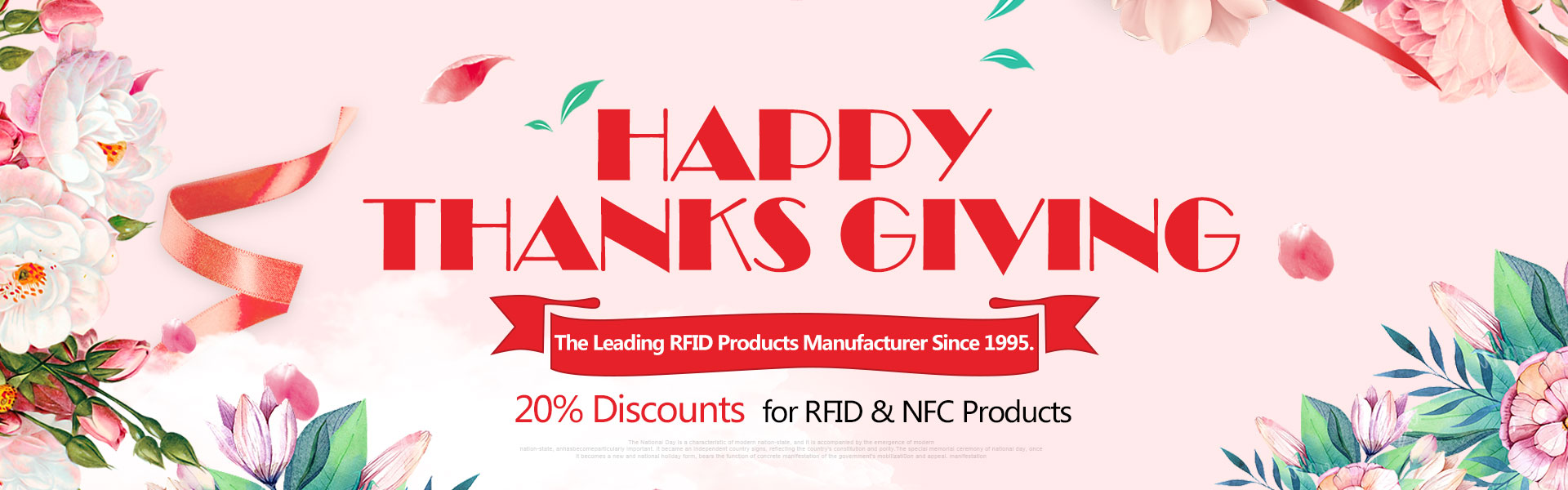 Thanks Giving Day, 20% Discount for RFID and NFC Products