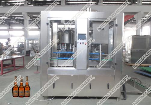Carbonated drink filling capping machine for glass bottle
