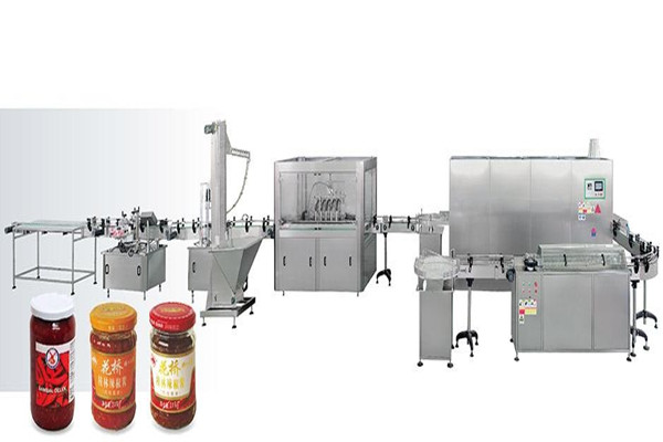 Automatic  Sauce Jar Filling Line for pepper ,tomato paste